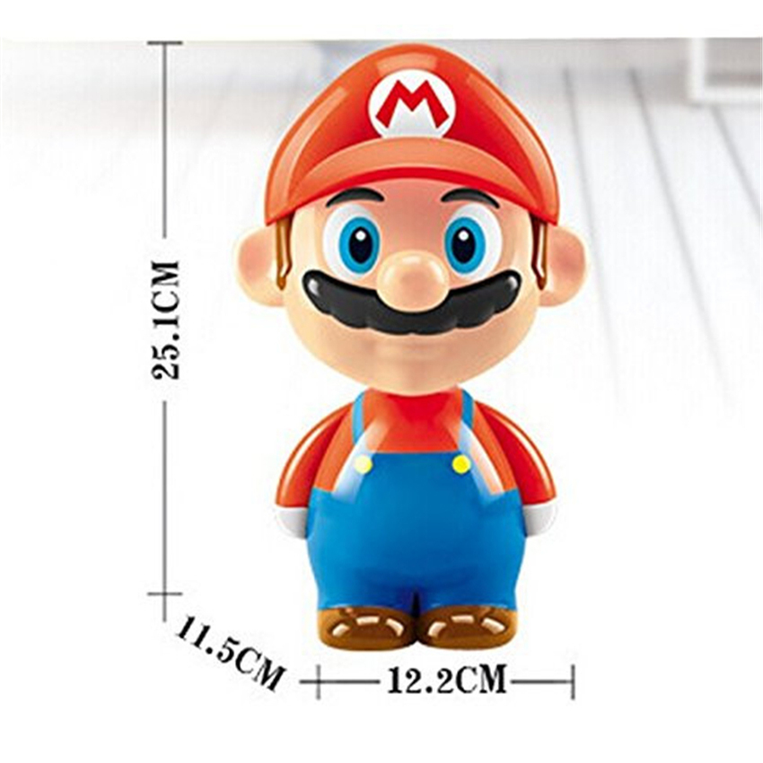 Super Mario Cute Cartoon LED Rechargeable Table Light Night Lights Bedside Lamp for Children Kid Novelty Lighting Birthday Gifts