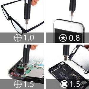 Image 3 - DOERSUPP Mini électrique sans fil magnétique tournevis outil Rechargeable Li ion batterie précision main tournevis jeu de bits