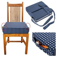 Stars Dining Chair Heightening Cushion With Pockets Hight Chair Cushion Seat Pad For Toddlers
