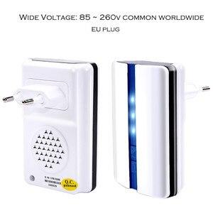 Image 5 - SMATRUL האיחוד האירופי Plug אלחוטי דלת בל פעמון עמיד למים עצמי מופעל ללא סוללה חכם 1 כפתור 1 2 מקלט דלת טבעת שיחה
