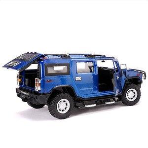 Image 4 - 2019 1:24 Hummer H2 Legering Model Diecast Metalen Auto Speelgoed Voor Kinderen Brinquedos Juguetes Oyuncak Dropshipping Hotwheelsing