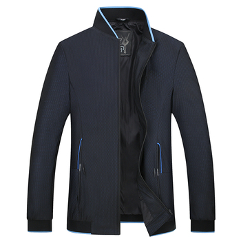 Baseball Collar men Long Sleeve Jacket Fashion Casual Men coat Large Size L 8XL Middle-aged Mens Coats High Quality