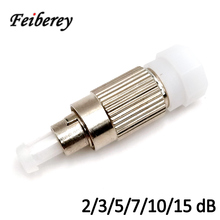 цена на Free Shipping FC UPC Single Mode 2dB 3dB 5dB 7dB 10dB 15dB Attenuator Fixed Attenuation Female-Male Fiber Optic CATV Attenuator