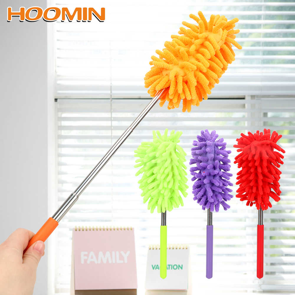HOOMIN Dusters Scrub Cleanning Brush Home Car Cleaner Telescopic  Dust Remover Washing Tool