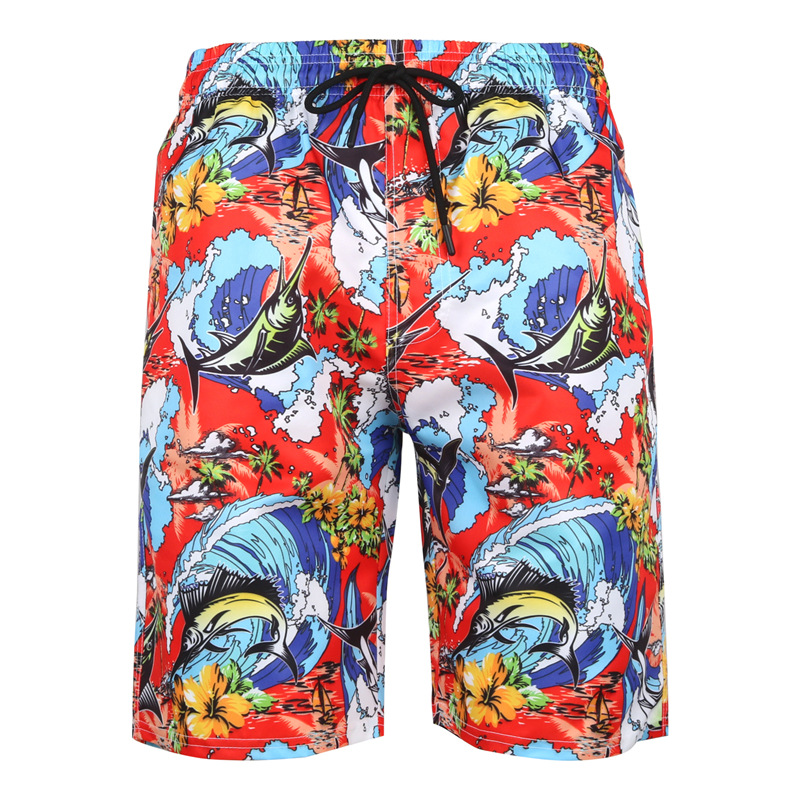 2019 Newest Mens Swimming   Shorts   3D Printed   Board     Shorts   Bermudas Surf Swimwear Fast Dry Beach Pants S-6XL Plus Size Swim Wear