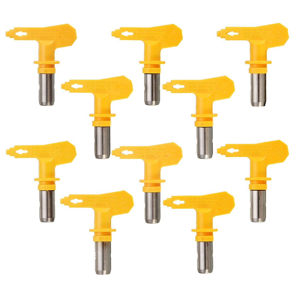 Yellow Series 5 Airbrush Nozzle For Painting Airless Paint Spray G Un Tip Powder Coating Portable Paint Sprayer Auto Repair Tool