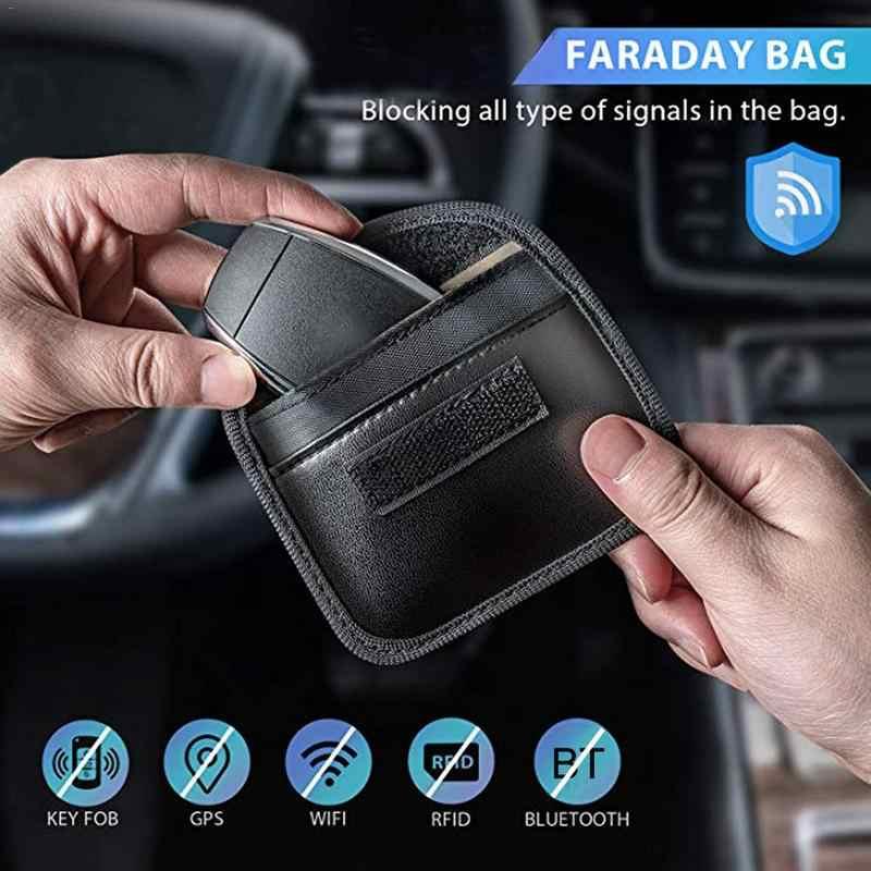 Mini Faraday Bag Signals Blocking Pouch For Car Key Fob Anti