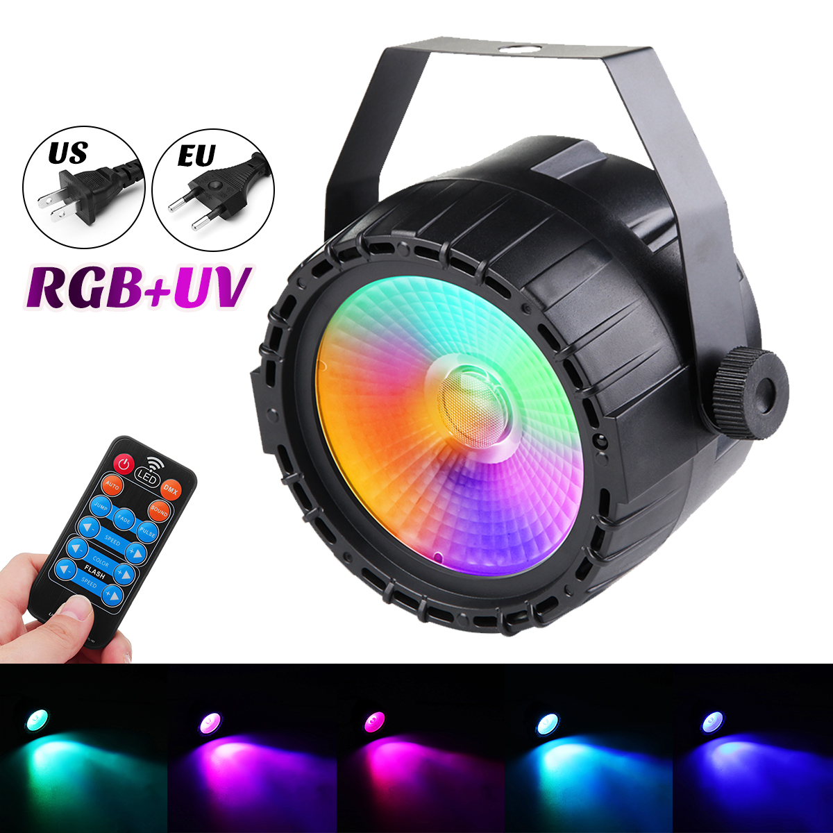 UV LED Bühne Licht mit Fernbedienung 30 watt COB LED Wall Washer Effekt DMX 512 Multi-modus Control Für DJ Bar Party 90-240 v US/Eu Stecker