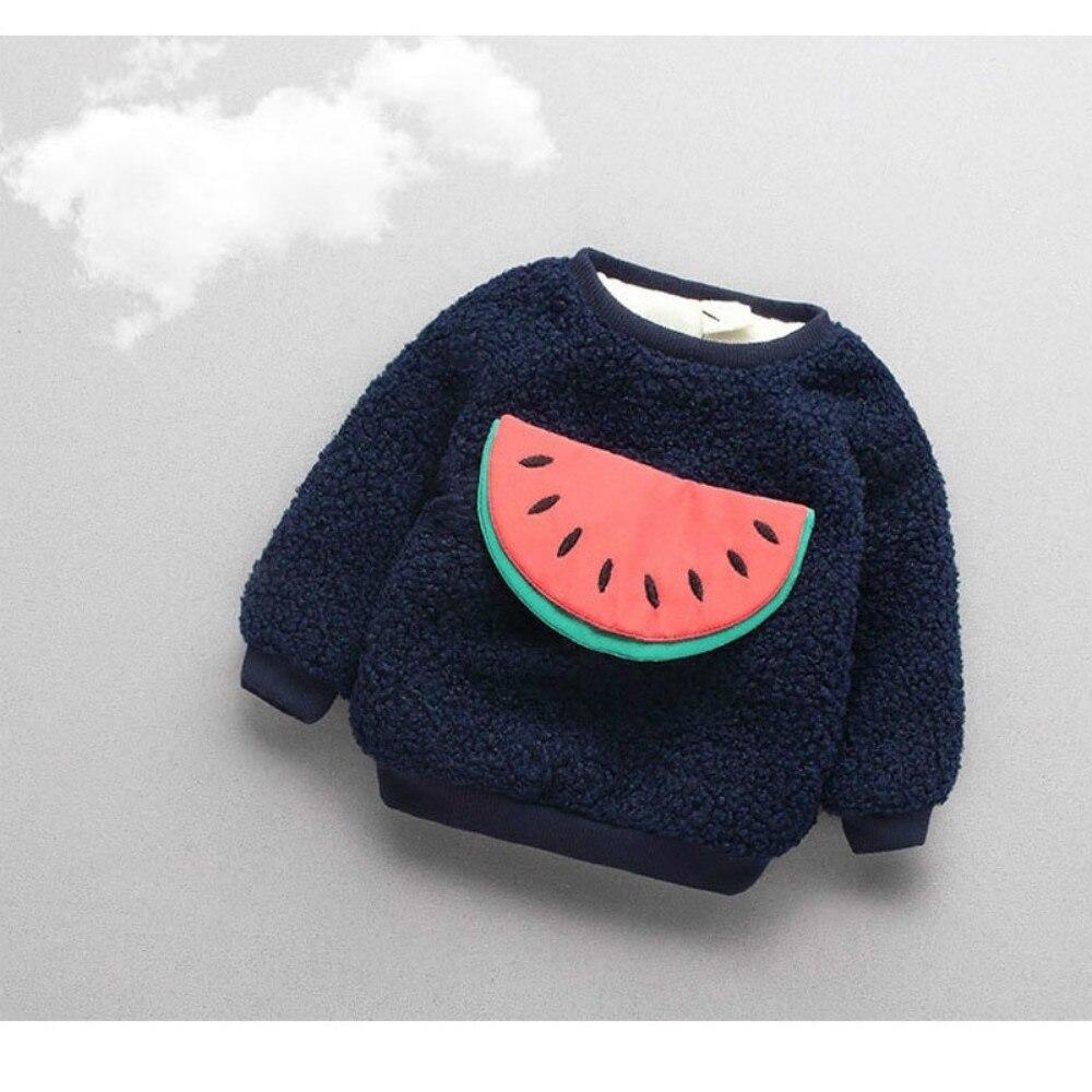 2019 Winter Baby Outfit Mädchen Jungen Kleidung Jacke Kinder Langarm Rundhals Warme Verdickung Samt Mantel