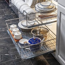 Organizar Corredera Cucina Organizador Cestas Para Colgar En La Ducha Pantry Stainless Steel Cocina Rack Kitchen Cabinet Basket
