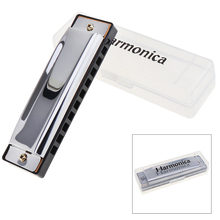 10 Holes Blues Harmonica Musical Instrument Stainless Steel Mouth Organ for Children Gifts недорого