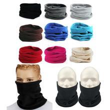 Unisex czapki beanie Ski Snood szalik kobiety mężczyźni termiczny polarowy szalik Snood szyi cieplej maska zimowa wiosna 1PC 3w1 tanie tanio WOMEN HE00106 COTTON Wiatroszczelna Stałe Headwear Neck Gaiter support