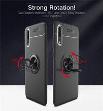 Huawei P 20 Fall P20 Auto Halter Stehen Magnetische Halterung Finger Ring Silikon TPU Fall Abdeckung Für Huawei P20 EML l29 L09 Coque Capa