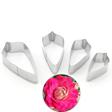5.8/5/4.8/3.5cm 4pcs/lot Stainless Steel camellia Flower Petal Cutting Mold Designer DIY Polymer Clay Craft Clay Cutter Tools 11pcs set designer diy handmade 3d polymer clay rose flower petal leaf cutting mold clay tools