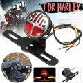 Universele Motorfiets Achterlichten Remlicht Stop Lamp Kenteken Beugel Voor Harley Cafe Ras