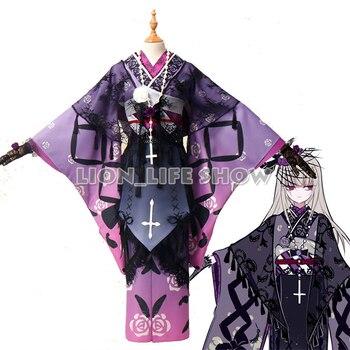 Rozen Maiden 15th Anniversary Suigintou Cosplay Costume Kimono Yukata Full Set