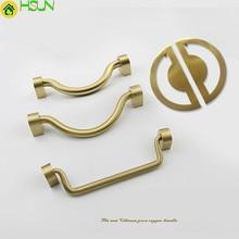 1 PC Furniture Brass Knobs Cabinet and Handles 100% Copper Drawer Pulls for meubelknoppen handvatten