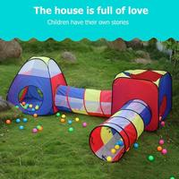 Baby Game House Toy Tent for Kids Foldable Toy Children Game Play House Inflatable Tent Yard Ball Pool Children's Crawl Tunnel