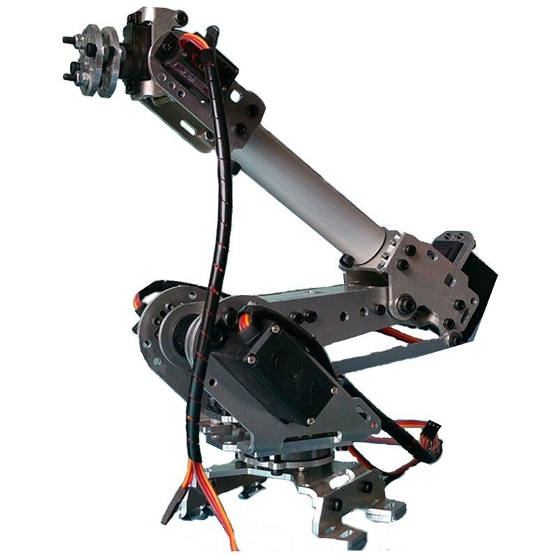Os Recém-chegados 6DOF Rolamento Braço Garra Robô Mecânico de Aço Completo Com Servos Para Robótica Braço Do Robô de Brinquedo das Crianças DIY
