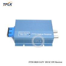 Лучшая цена 10 шт./лот алюминиевый FTTH OR20 CATV SC UPC AGC микро дуплексный волоконно-оптический приемник 2 выхода входной порт WDM