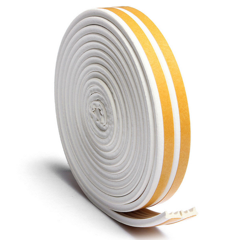 5M Self Adhesive Home Window Door Draught Rubber Excluder Foam Seal Strip Tool J