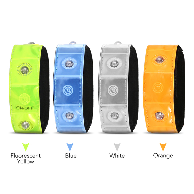 running saftey Outdoor Sports LED Night Safety Reflective Wrist Band Bracelet for Cycling Walking Running band