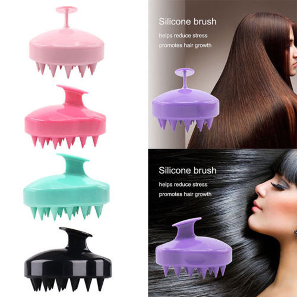 1pc Comfortable Silicone Shampoo Scalp Massage Brush Hair Washing Comb Body Bath Spa Slimming Massage Brush Comb
