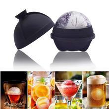 Ледяной шар для виски производитель плесень Силиконовая форма льда мяч автономный бар аксессуары Воронка один круглый шар плесень