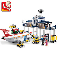 Lu Ban Assembling Building Block 0373 Aviation World Series Civil Aviation Repair Base Airport Spelling Insert Building Block