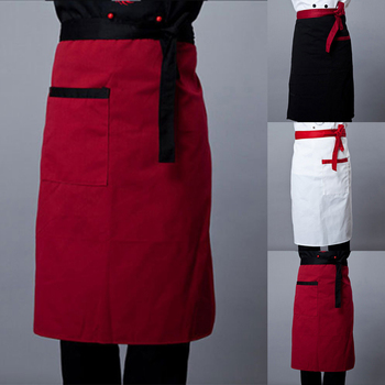 2019 uniforme de Chef de cocina delantal ropa delantal de cocina para hornear vestido cocinero delantal camarero de restaurante vestido Unisex bolsillos