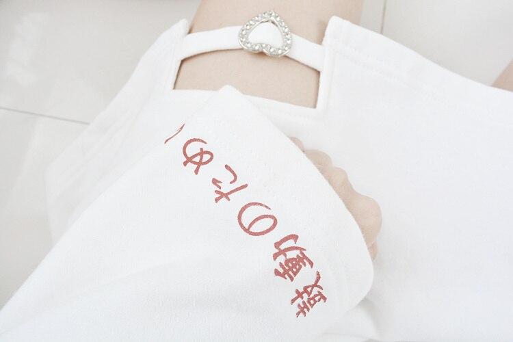 2019 corée femmes Lolita Long Hoodies japonais Harajuku mode ECG graphique femme blanc sweat avec coeur Kawaii gothique hauts - 6