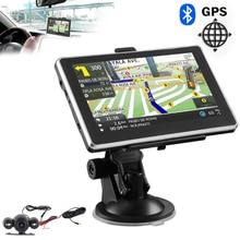 2018 mapa más reciente navegación GPS de 5 pulgadas Navegador de coche camión 256M + 8GB FM Navegación Satelital Navitel pantalla táctil portátil reproductor MP4 MP3