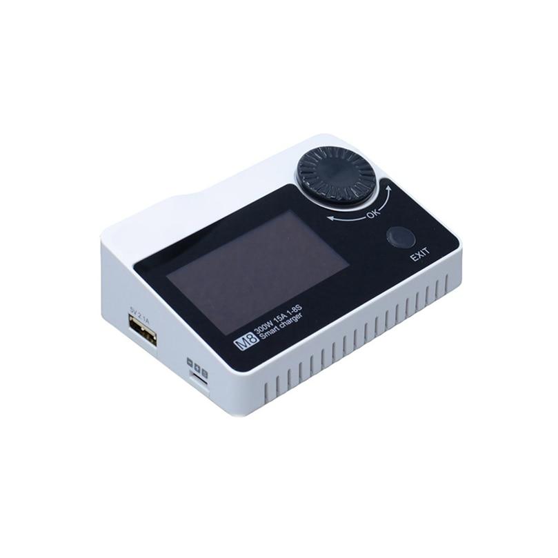 ToolkitRC M8 DC 300 W 15A chargeur d'équilibrage de batterie chargeur LiPo haute puissance pour batterie li-po 2-8 S Drone FPV