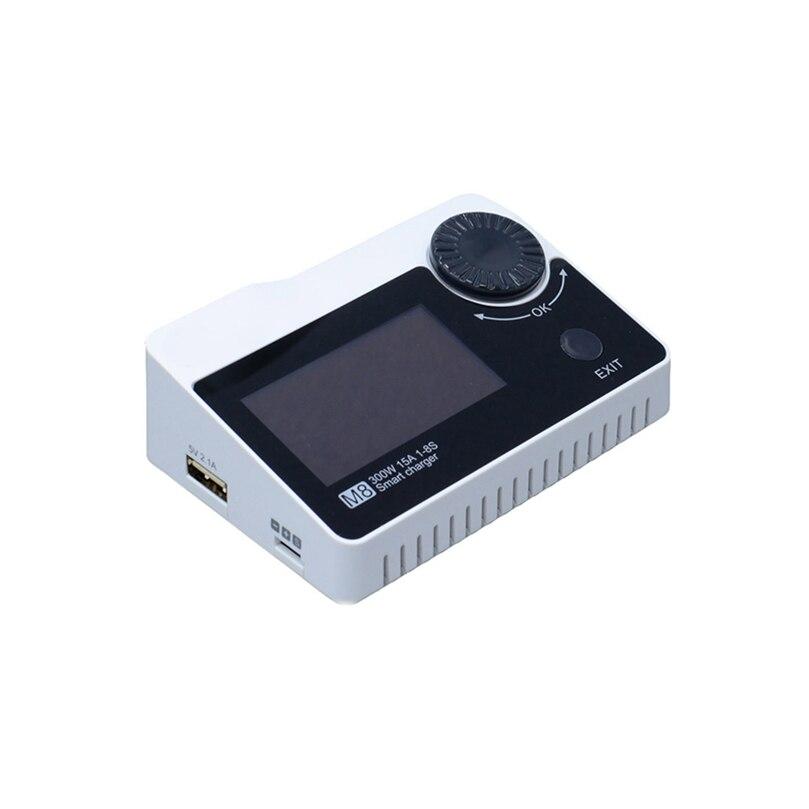 ToolkitRC M8 DC 300 W 15A Batterie chargeur de balance Déchargeurs Haute Puissance LiPo Chargeur pour 2-8 S Li- po Batterie drone fpv
