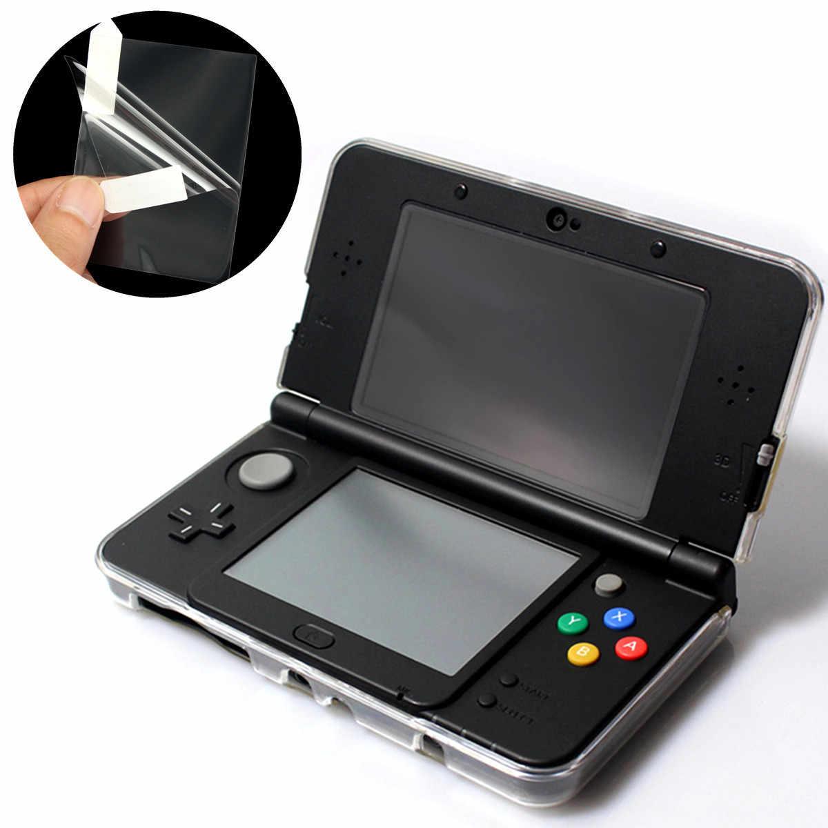 3 in 1 Temizle Üst ve Alt LCD Kapak Filmi Yeni Nintendo 3DS Up ekran koruyucu + Dokunmatik h ekran koruyucu + Temizleme Bezi