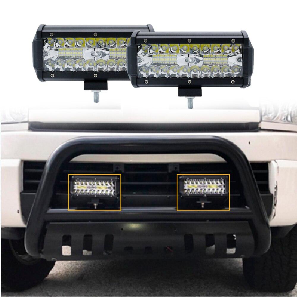 7 Inch 120W Combo Led Light Bars Spot Flood Beam For Work Driving Offroad Boat Car Tractor Truck 4x4 SUV ATV 12V 24V