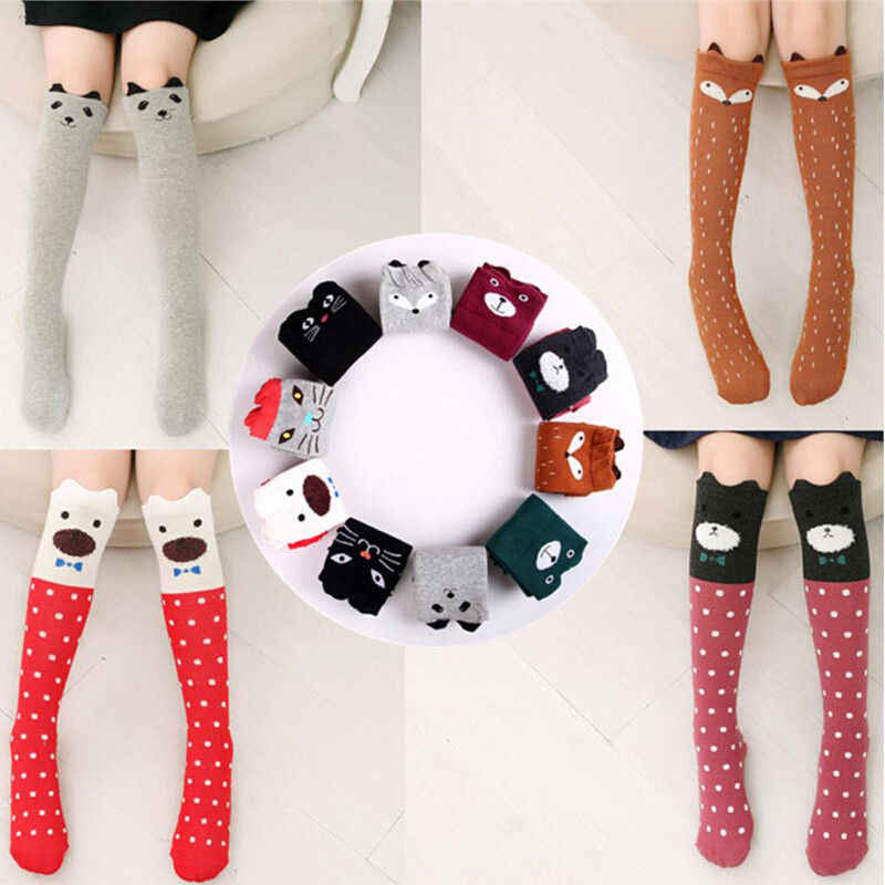 3-12 Years Children Cotton Socks Girl Knee High Hosiery Baby Warmer Stockings