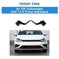 Carbon Fiber Fins For VW Volkswagen Golf 7.5 R Line Hatchback 4 Door 2017 2018 2019 Front Bumper Vents Decoration
