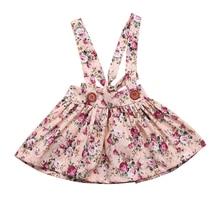 Юбка для маленьких девочек модные вечерние нагрудник «Принцесса» с цветочным рисунком для новорожденных девочек Детский сарафан хлопковые юбки для девочек