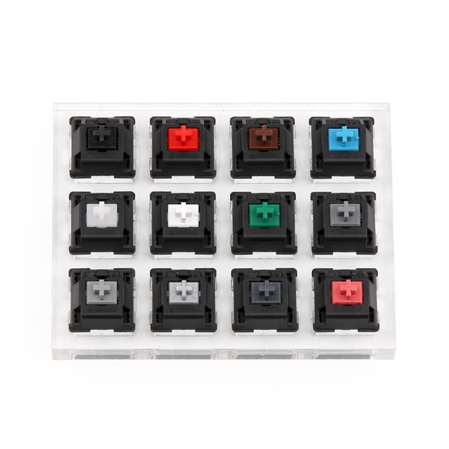Acrylic Keyboard Tester Plastic Keycap Sampler For Cherry MX Switches