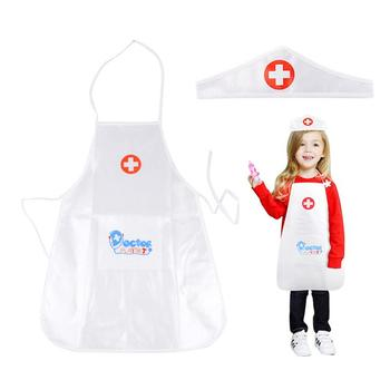 Children's Role Play Costume Doctor's Overall White Gown Nurse Uniform
