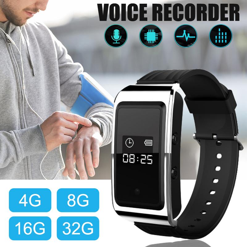 Image 5 - D6 Portable Bracelet Sports Watch Business Meeting Voice Audio Recorder Recording Devices Sports Anti shake And Anti sweat Watch-in Smart Watches from Consumer Electronics