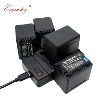 4 Pack Replacement Battery + USB Charger for Panasonic HDC HS80 SD40 SD60 SD80 SDX1 SDR H100 H85 H95 HS60 HS80 TM60