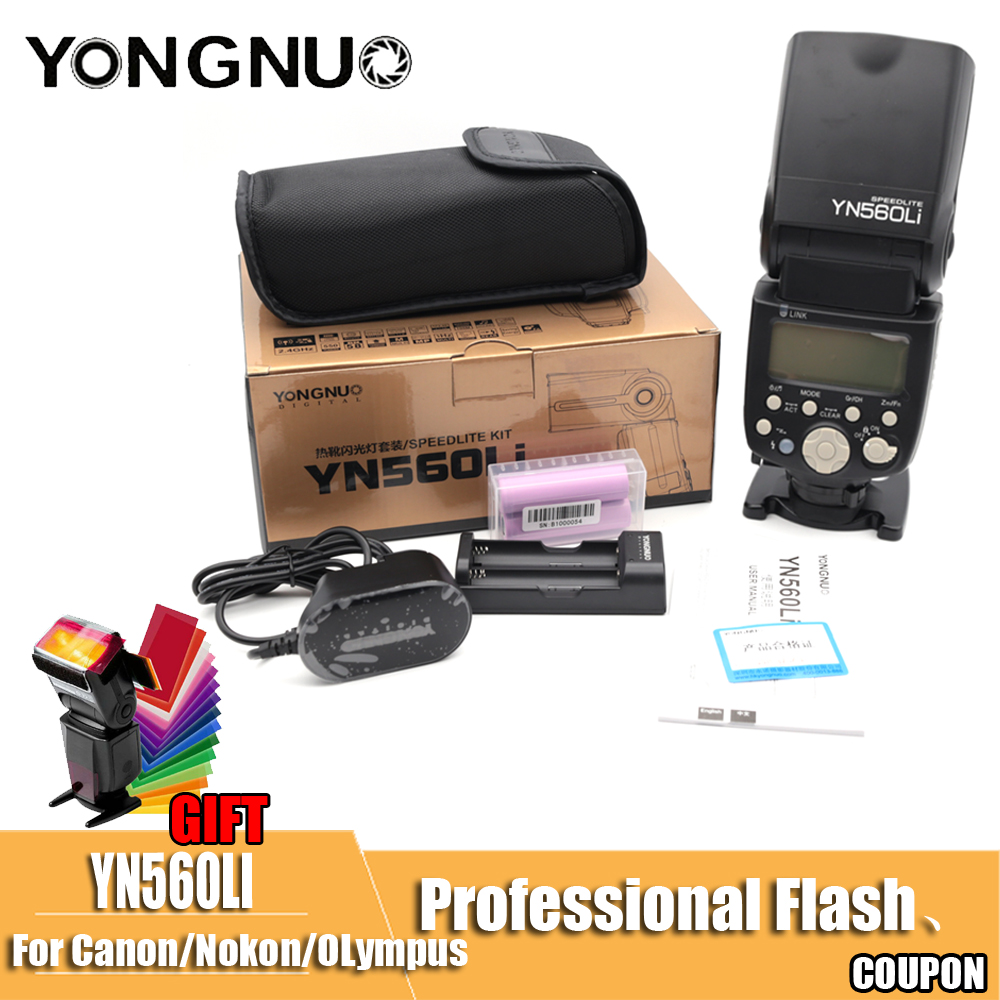 YONGNUO YN560Li YN560 LI KIT 1 Flash Sans Fil Maître Esclave Flash pour Canon Nikon Caméra GN58 Ultrarapide Recyclage De Charge