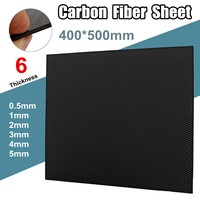 400x500mm 0.5mm 1mm 2mm 3mm 4mm 5mm Thickness Real Carbon Fiber Plate Panel Sheets High Composite Hardness Material For RC