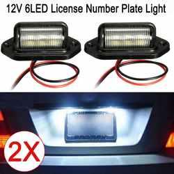 2 шт. 12 светодиодный led номер номерные знаки для мотоциклов свет автомобилей лодки мотоцикл автомобильной самолета RV грузовик прицепы