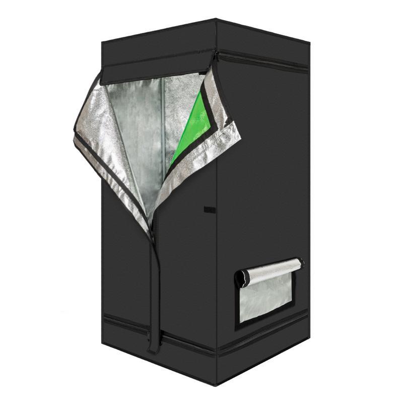 60X60X120 cm usage domestique démontable hydroponique plante croissante tente avec fenêtre vert & noir US entrepôt livraison rapide 7-10