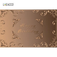 Laeacco Golden Pattern Card Birthday Part Backdrop Photography Backgrounds Customized Photographic Backdrops For Photo Studio