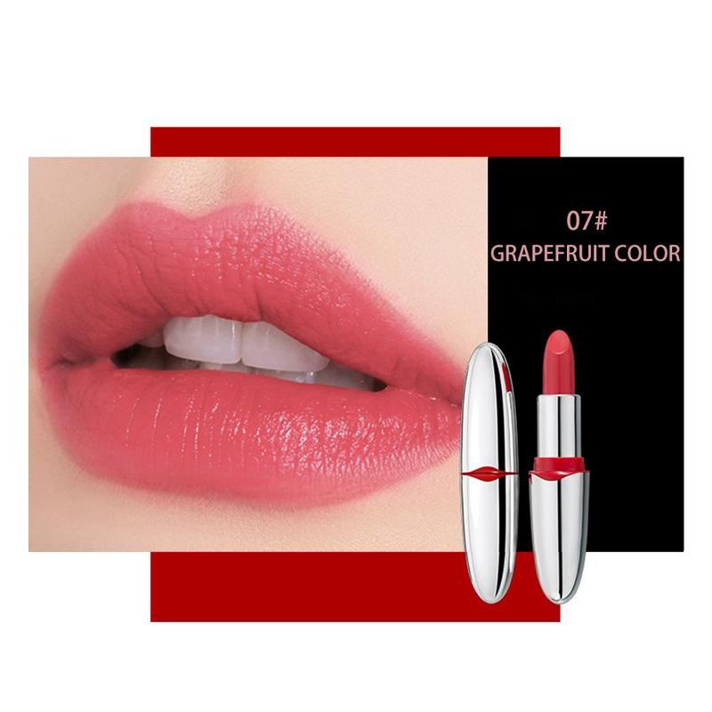 2018 Hot Brand Professional Lips Makeup Matte Moisturizing Lip Gloss Waterproof Long Lasting Pigment Nude Pink Lipstick Cosmetic 5