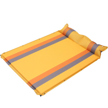 New Pattern Thickening Outdoors Camping Picnic Barbecue Stitched Automatically Inflated Automatic Widen Coupe Inflation Pad 5cm